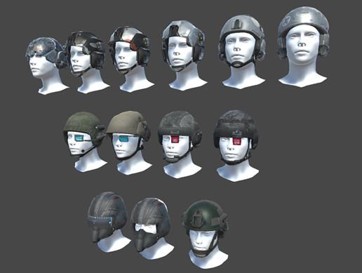 10 Sci Fi Helmet Pack