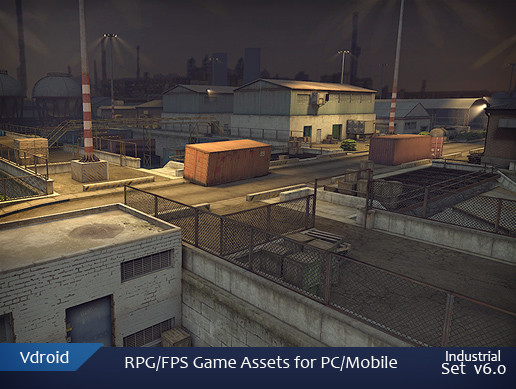 RPG/FPS Game Assets for PC/Mobile (Industrial Set v6.0)