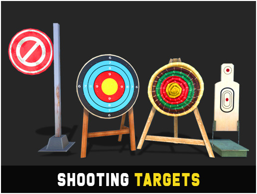 Shooting Targets Assets 3D Pack
