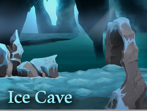 Ice Cave. Hand painted