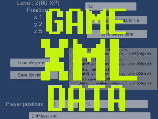 XML Game Data: Save, Load, Change
