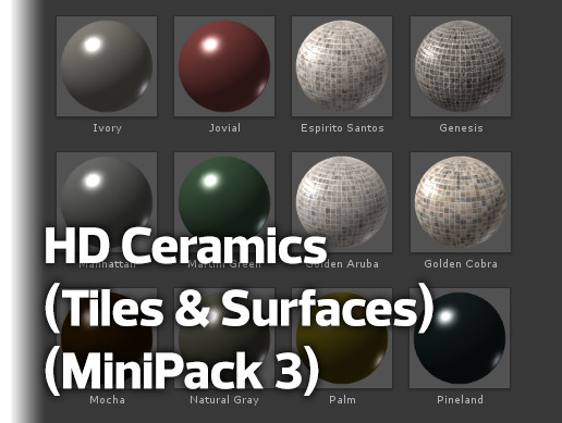 HD Ceramics (Tiles & Surfaces) (MiniPack 3)