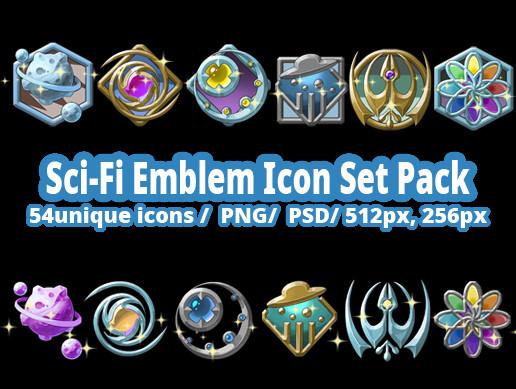 Sci-Fi Emblem Icon Set Pack