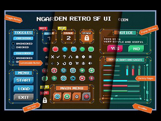 nGarden Retro SF UI Pack