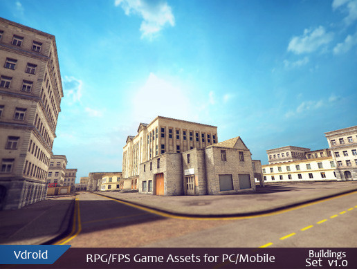 RPG/FPS Game Assets for PC/Mobile (Buildings Set v1.0)