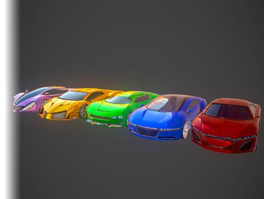 Five Race Cars Models Pack - Asset Store