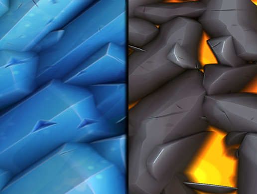 Stylized Ice and Lava Vol 01