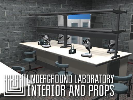 Underground laboratory - interior and props