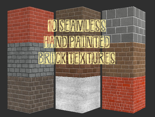Hand Painted Brick Textures