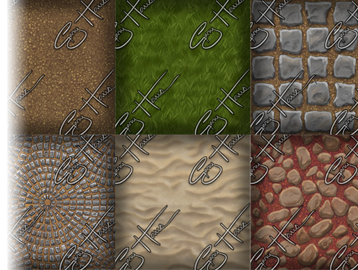 Hand Painted Textures - Ground Pack 1