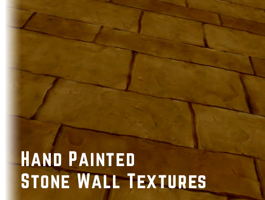 Hand Painted Stone Wall Textures