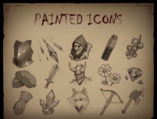 Hand-Painted Icons