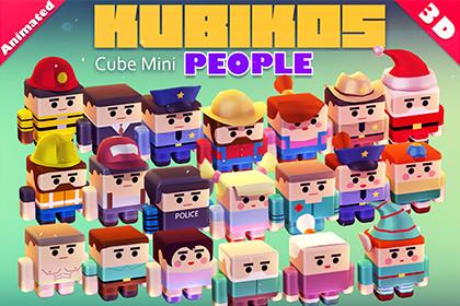 KUBIKOS - People 20 Animated Cube Characters