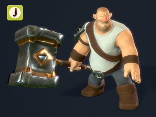 Lowpoly Knight | Hammer