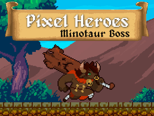 Pixel Heroes - Minotaur Boss