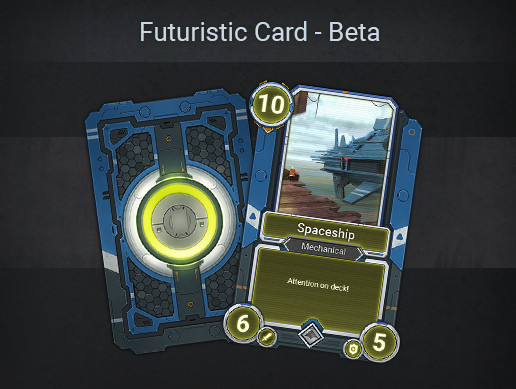 Futuristic Card Template - Beta