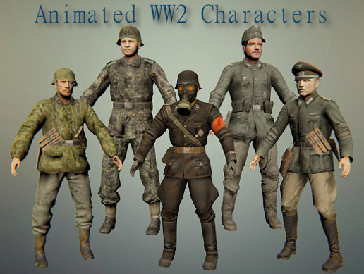 Animated WW2 Characters