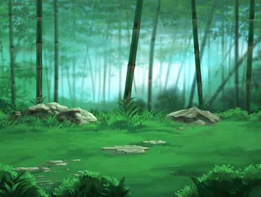 Parallax Bamboo Forest Background