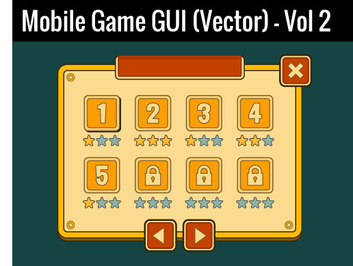 Mobile Game GUI (Vector) - Vol 2