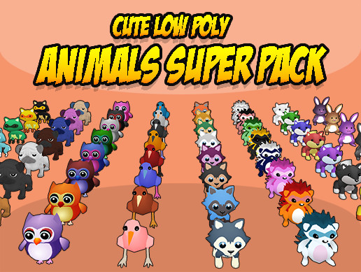 CUTE LOW POLY ANIMALS SUPER PACK