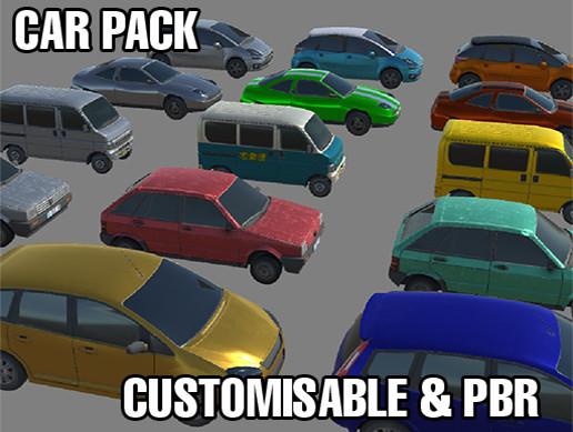Customisable PBR Prop Car Pack