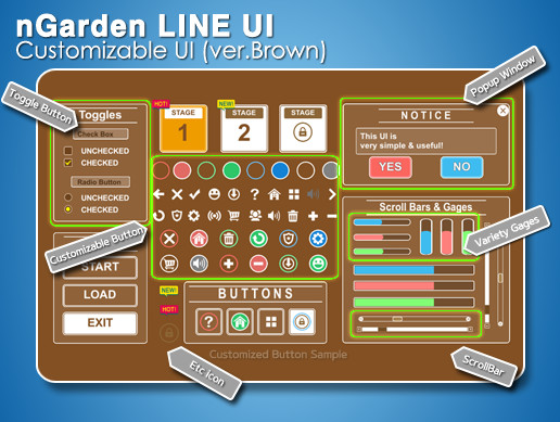 nGarden Line UI (Brown)