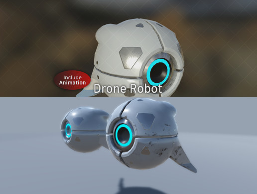 Animated Drone Robot