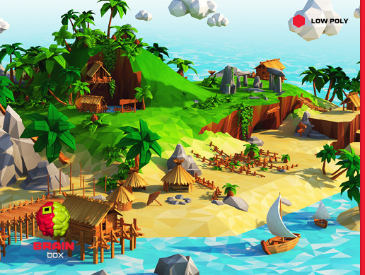 Tropical Island Beach Ambience Sound: Tropical Island / Low Poly