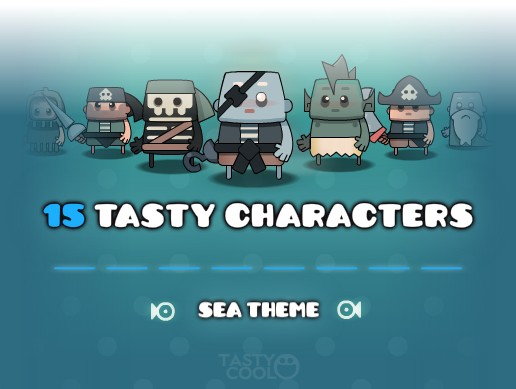 Tasty Characters - Sea Pack