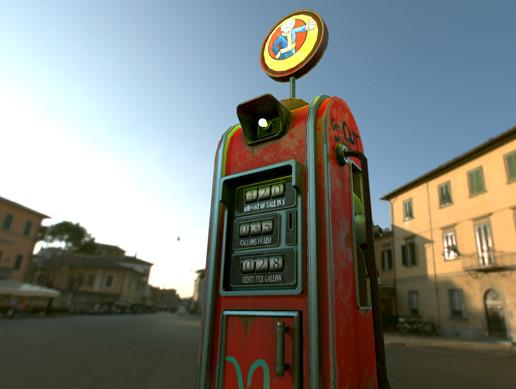 Retro Gas Pump - Asset Store