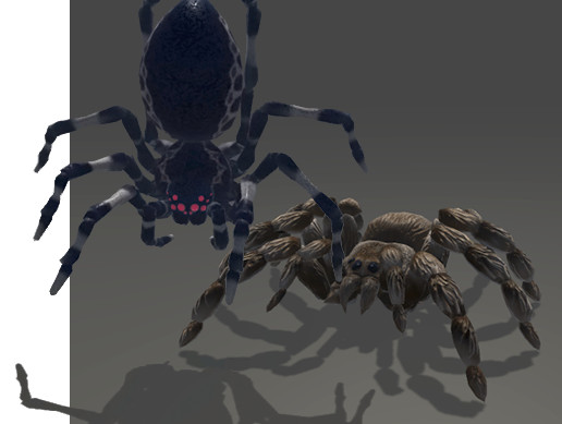 Giant Spiders Animated