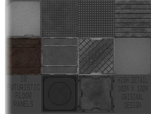 Metal Flooring Pack Volume 1 2d