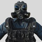 Soldier gas mask