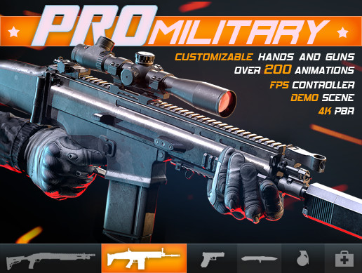 PRO Military: Customizable FPS Character