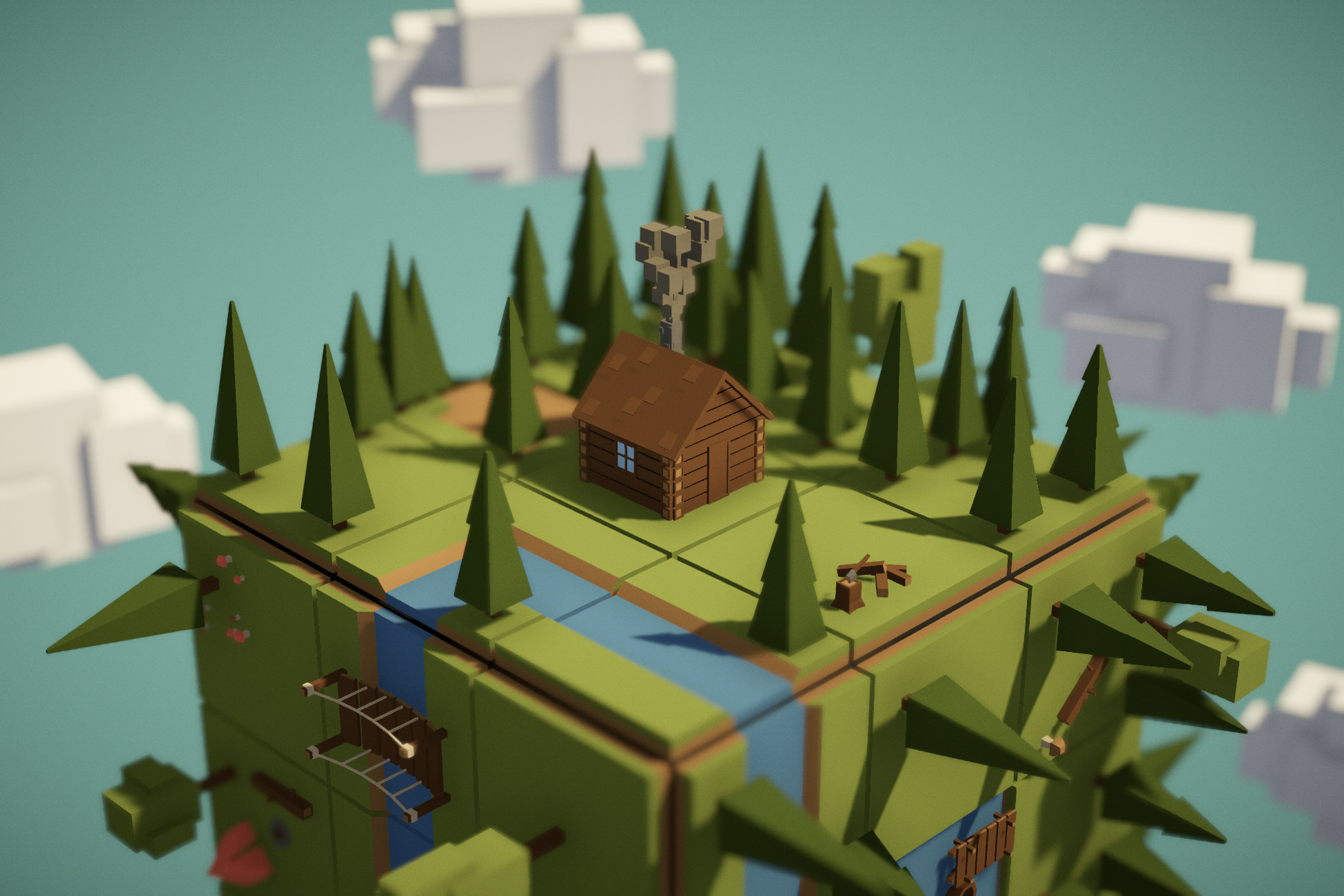Low poly Forest environment package