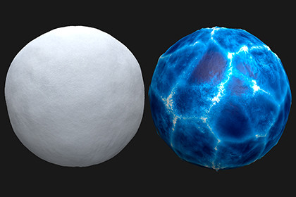 Realistic Snow and Ice Materials
