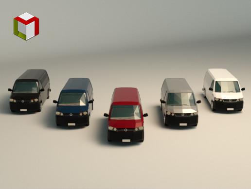Low Poly Transporter Van 04