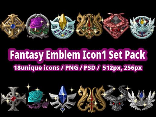 Fantasy Emblem Icon01 Set Pack
