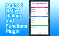 Android Native Dialogs and Functions Plugin