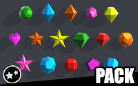 Simple Gems Ultimate Animated Customizable Pack