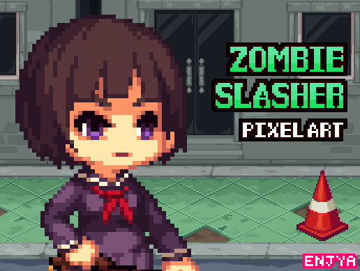 zombie slasher: Highschool Girl (character)