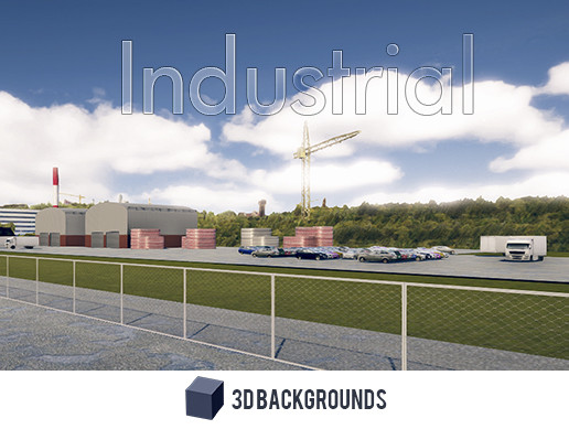 3D Industrial Background