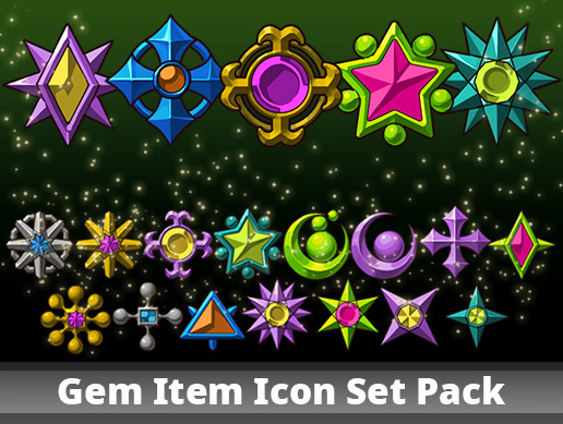Gem Item Icon Set Pack