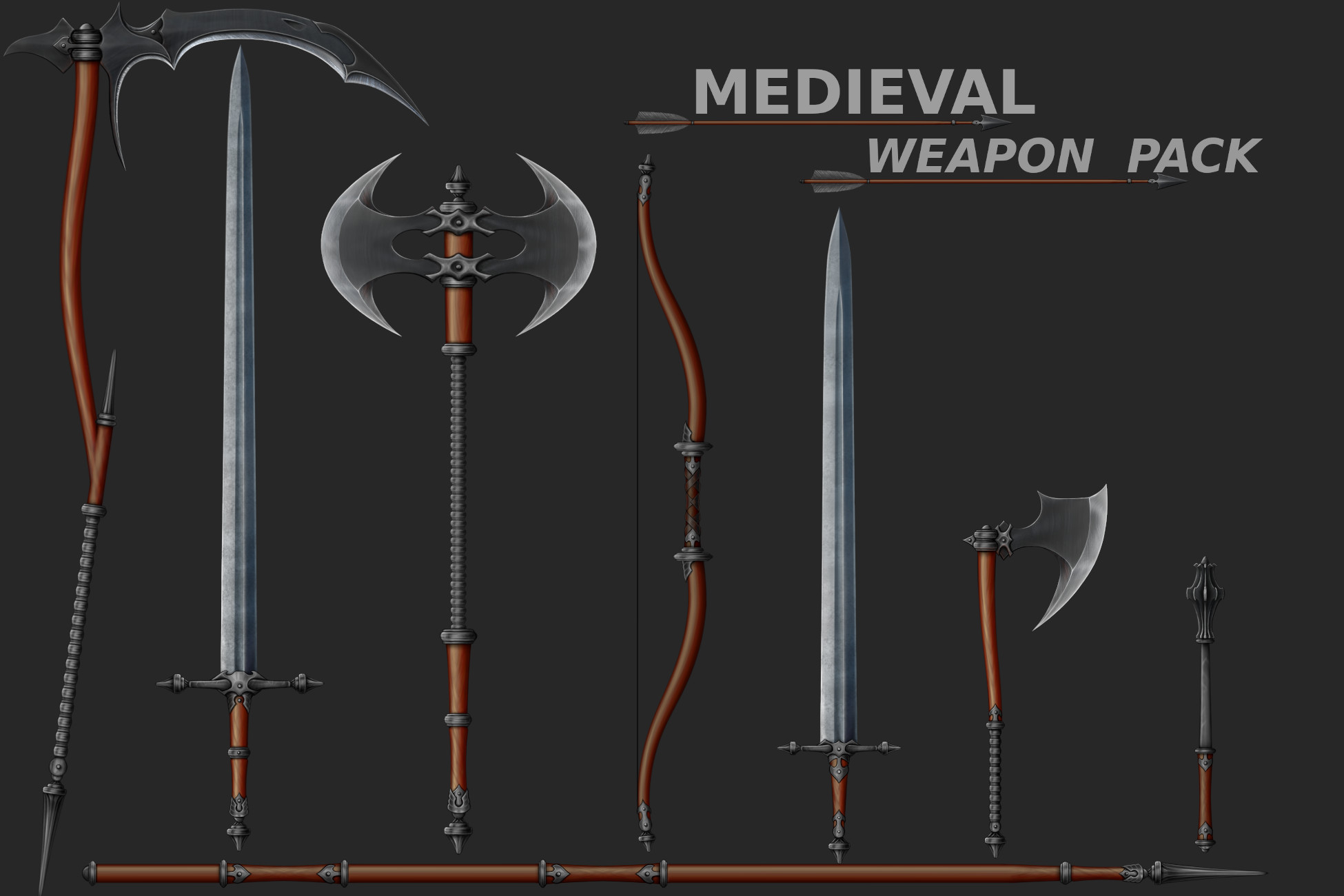 2D Medieval Weapons - IS Pack