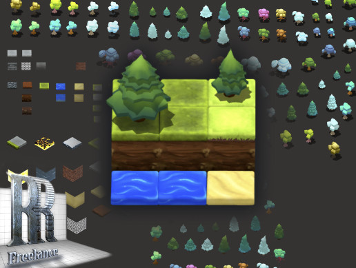 Environment Sprite Pack + TopDown Tileset