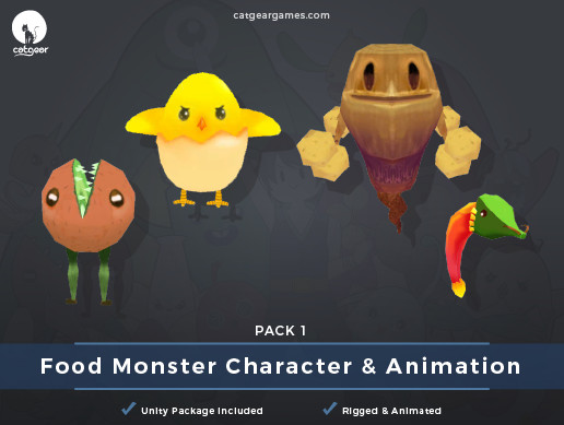 Food Monsters Character and Animation Pack 1