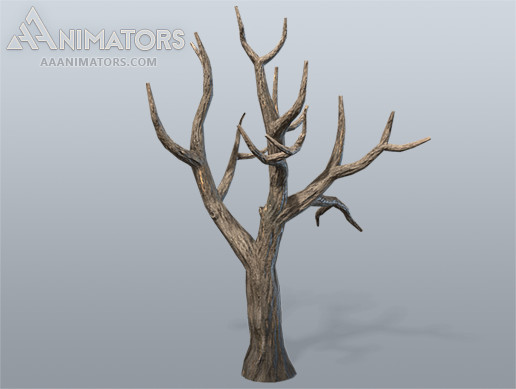 Low Poly Dead Tree 02
