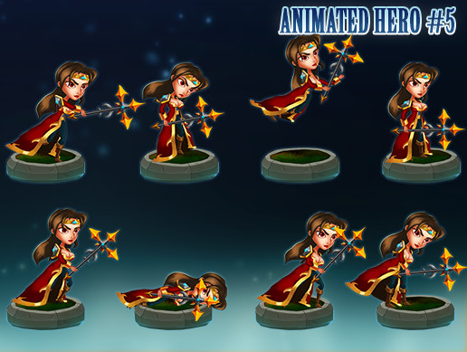Animated 2D Character - Female Mage #5