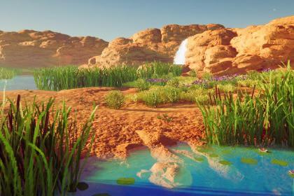 Stylized canyon environment