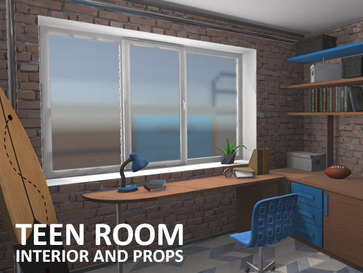 Teen room - interior and props